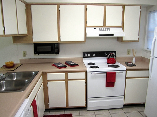 Greenwich Green Apartments Kitchen with Built-in Microwave