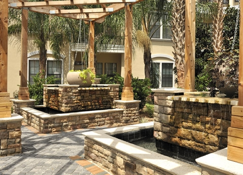 The Bartram Apartments Courtyard