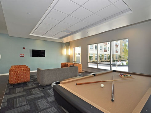 The Continuum Apartments Leisure Lounge with Billilards Table