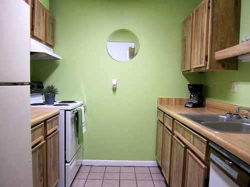 The Gardens Apartments Kitchen with Tile Floors