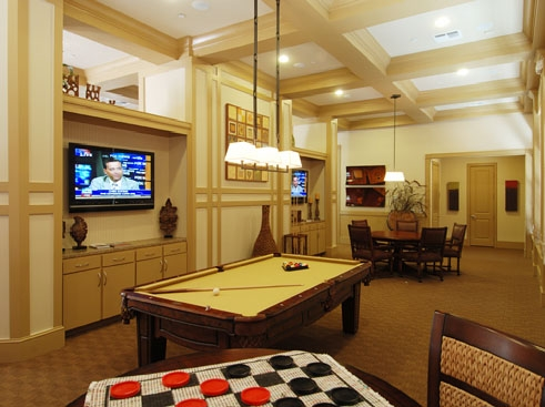 Wildflower Luxury Apartment Homes Billiards/Sports Pub Area