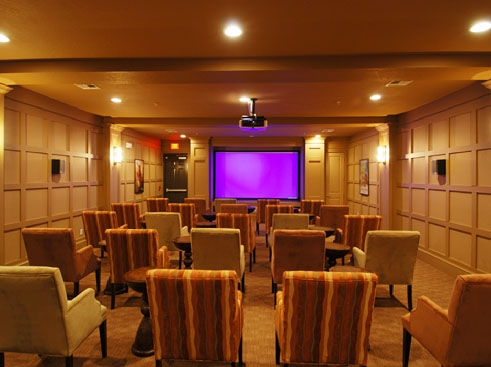 Wildflower Luxury Apartment Homes Movie Theatre with Surround Sound