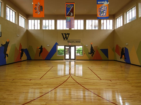 Wildflower Luxury Apartment Homes Indoor Air-conditioned Basketball Court