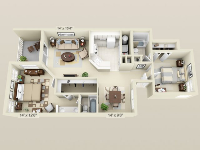 Hunters crossing apartments in gainesville close to uf and santa fe - Modernbedroombathroom house plans ...